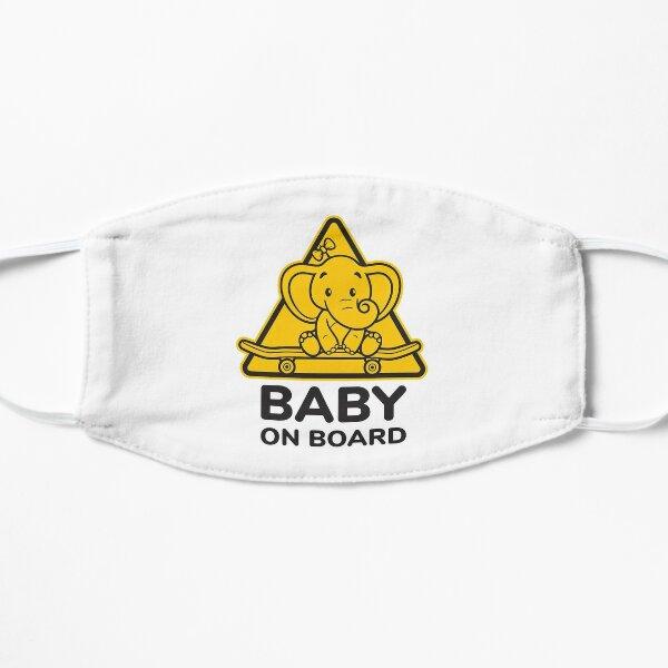 Baby On Board, Baby Elephant On Board, Baby in Car Flat Mask