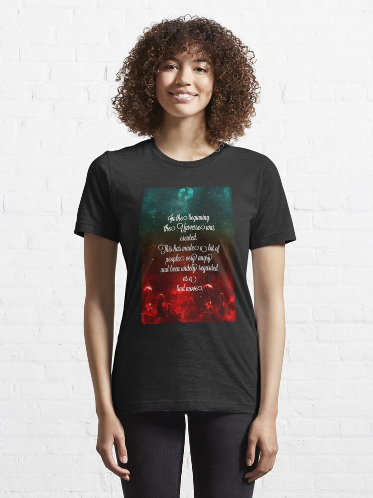 Alternate view of Hitchhiker's Guide Quote Essential T-Shirt