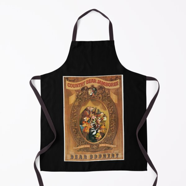 Country Bear Jamboree Bear Country Poster (Distressed) Apron