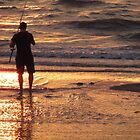 Fisherman at Sunset by gothgirl