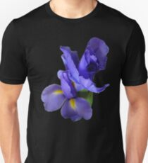 Incredible Iris on black Unisex T-Shirt