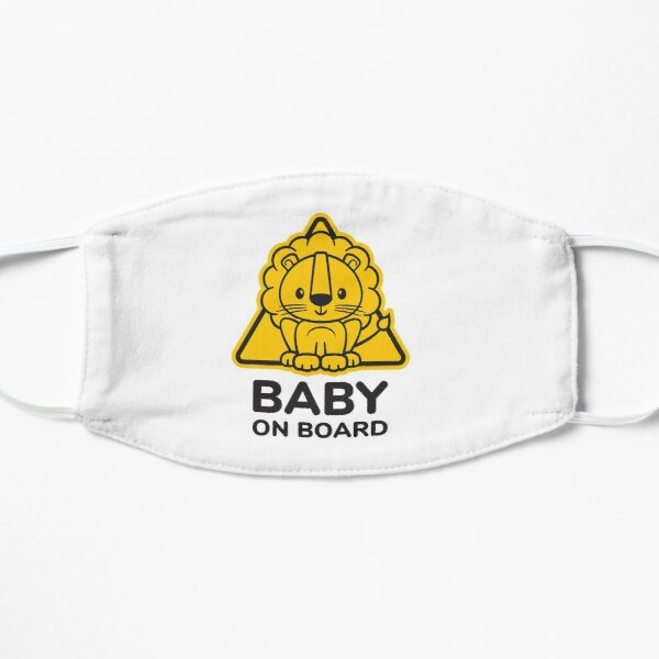 Baby On Board, Baby Lion On Board, Baby in Car Flat Mask