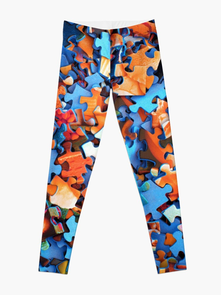 Alternate view of Jigsaw Puzzle Pieces Leggings
