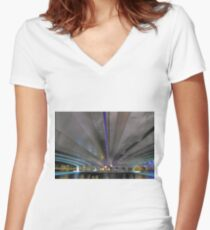 Under The Narrows Bridges  Women's Fitted V-Neck T-Shirt