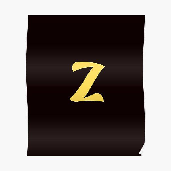 z brand, letter z, zed, z, zoo, zebra, zad, zafar, zidan,  Poster