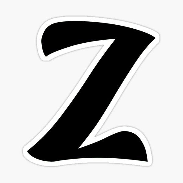 z brand, letter z, zed, z, zoo, zebra, zad, zafar, zidan,  Sticker