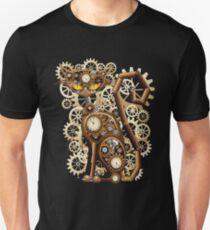 Stylische surreale Steampunk Katze Unisex T-Shirt