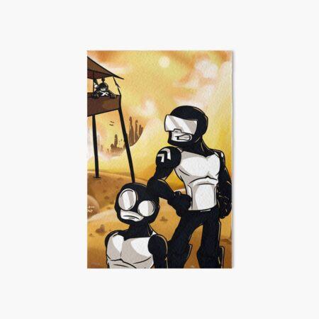 Redraw Tankmen Art Board Print