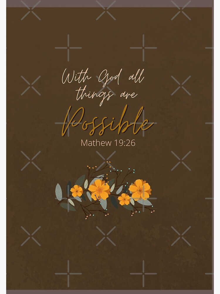 With God all Things are Possible by SCT-Alfie