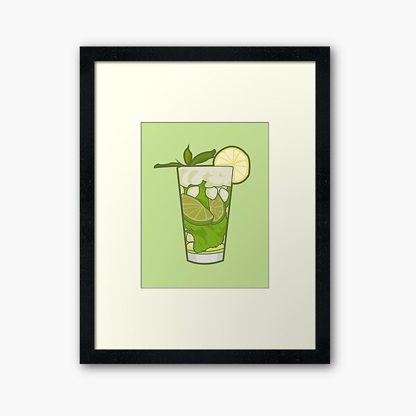 Mojito Green Wall Art Redbubble