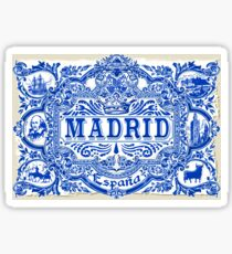 Azulejo Decoration Madrid Blue Vintage Azulejos Tiles Sticker