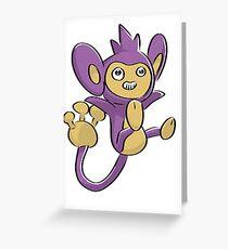 Aipom Pokemon  Greeting Card