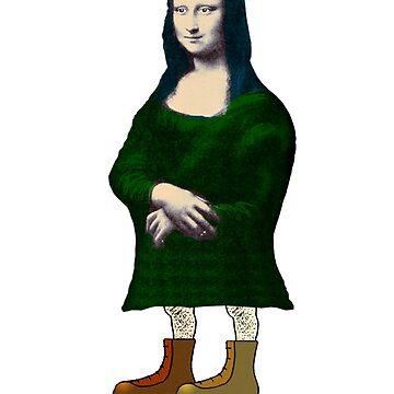 Mona Lisa Roller Skater by tiefholz