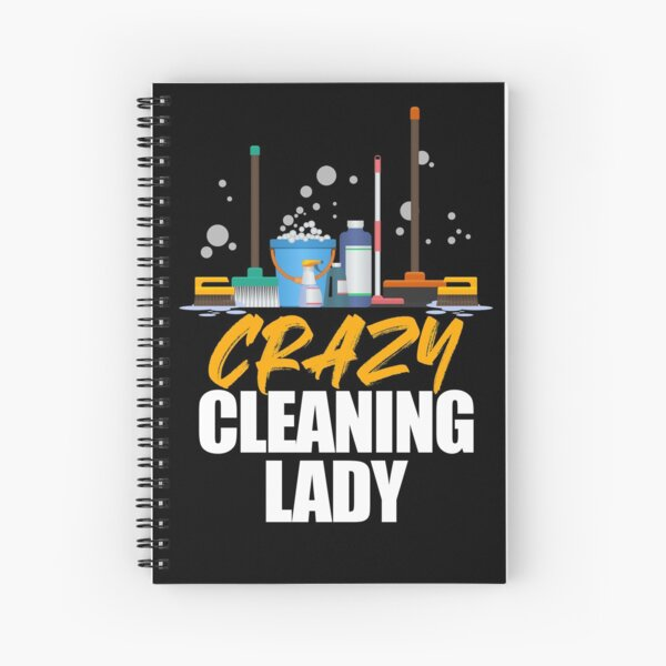 Cleaning Lady Housekeeper Maid Housemaker Domestic Worker Spiral Notebook