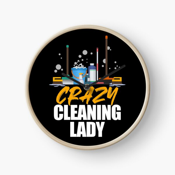 Cleaning Lady Housekeeper Maid Housemaker Domestic Worker Clock