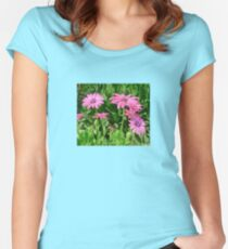 Magenta Africa Daisies Women's Fitted Scoop T-Shirt