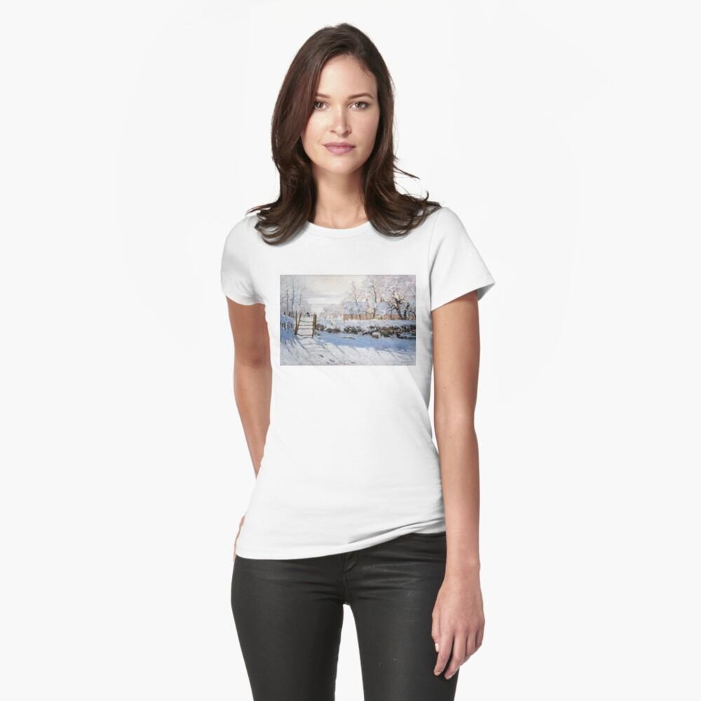Die Elster - Claude Monet - 1869 Tailliertes T-Shirt