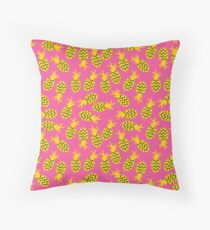 Pineapples colorful seamless pattern.  Throw Pillow