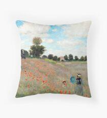 Mohnfeld - Claude Monet - 1873 Dekokissen