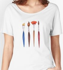 set brushes_color pencil Women's Relaxed Fit T-Shirt