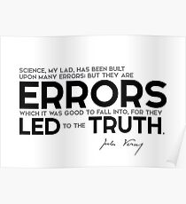 errors led to the truth - jules verne Poster