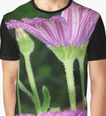 Purple And Pink Daisy Flower in Full Bloom Graphic T-Shirt