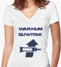 Waríhum quwitak Women's Fitted V-Neck T-Shirt