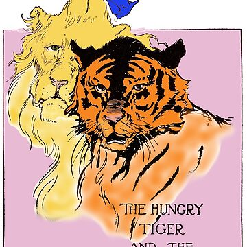 The Cowardly Lion and the Hungry Tiger by MandyEych