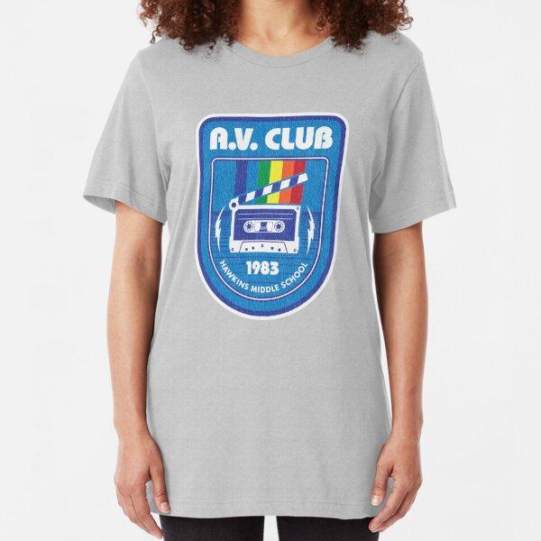 Hawkins AV Club (Stranger Things) Slim Fit T-Shirt