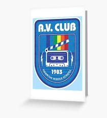 Tarjeta de felicitación Hawkins AV Club (Cosas extrañas)