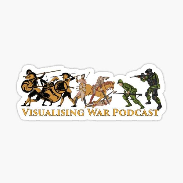 Visualising War podcast cover v.1 Sticker