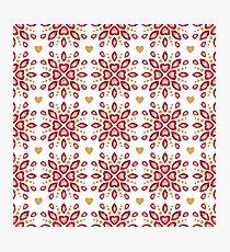 Colorful elegant jewelry gemstones pattern. Photographic Print