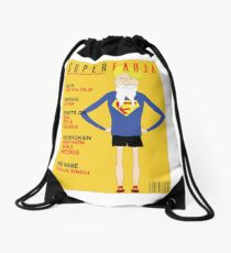 Real Life Superhero Drawstring Bag