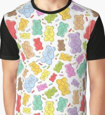Colorful gummy bears candies background. Graphic T-Shirt