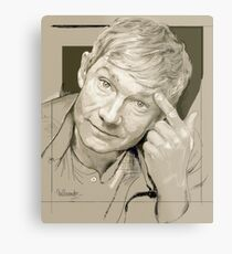 Martin Freeman Artwork Pencil Metal Print