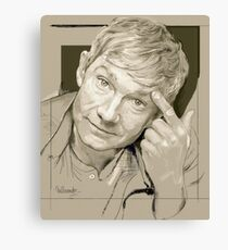 Martin Freeman Artwork Pencil Canvas Print