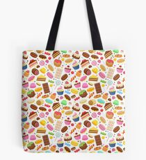 Assorted sweets colorful seamless background.  Tote Bag