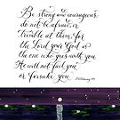Strong and courageous handwritten verse by Melissa Goza