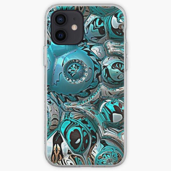 Aquamarine Abstract iPhone Soft Case