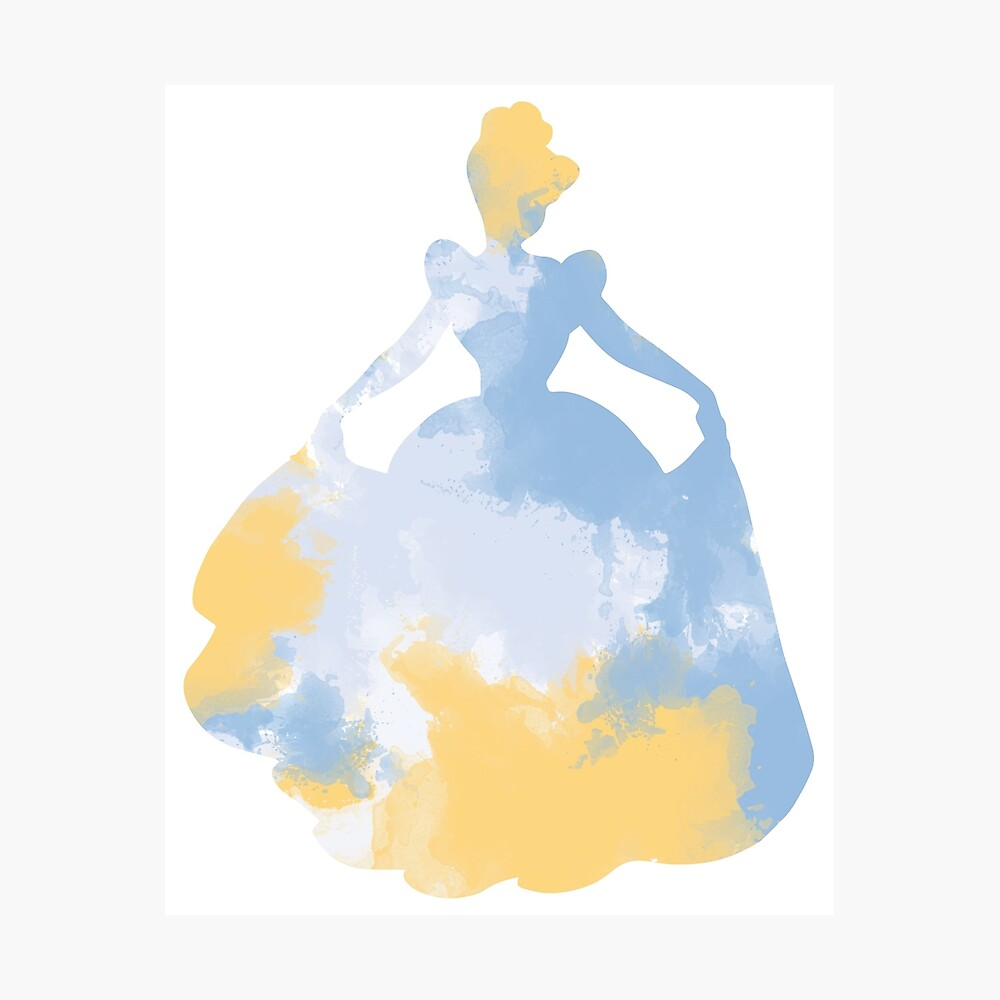 Charakter inspiriert Silhouette Fotodruck