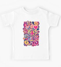 Peace and Love Hippie Retro Art Kids Clothes