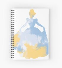 Character Inspired Silhouette  Spiral Notebook