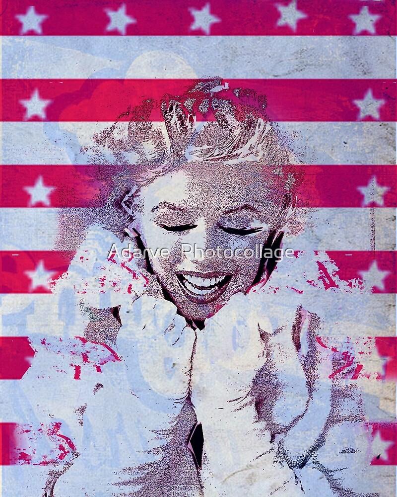«Marilyn portrait nº4» de Adarve  Photocollage