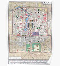1914 Map of Peking (Beijing) Poster