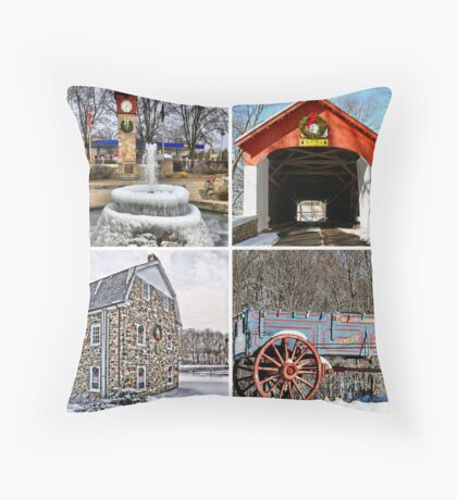 Saucon Valley Holiday Throw Pillow