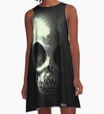 Sinister Alien Skull A-Line Dress