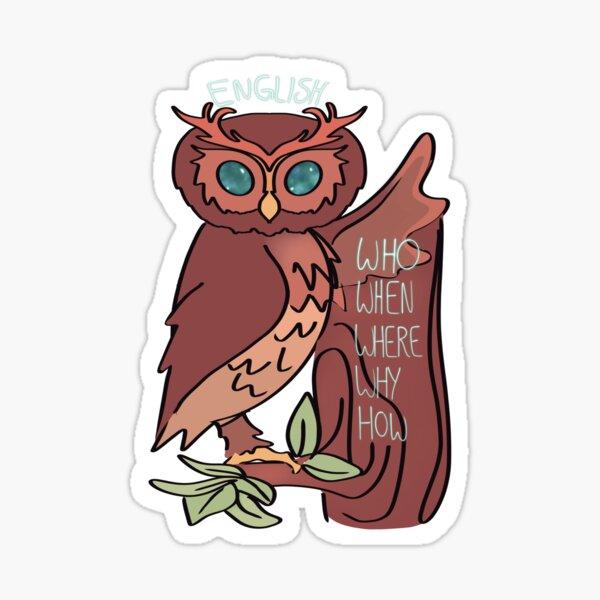 English Owl  Sticker
