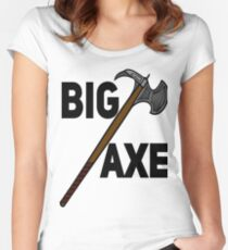The Big Axe :  The Fishy Yarpstore:  Women's Fitted Scoop T-Shirt