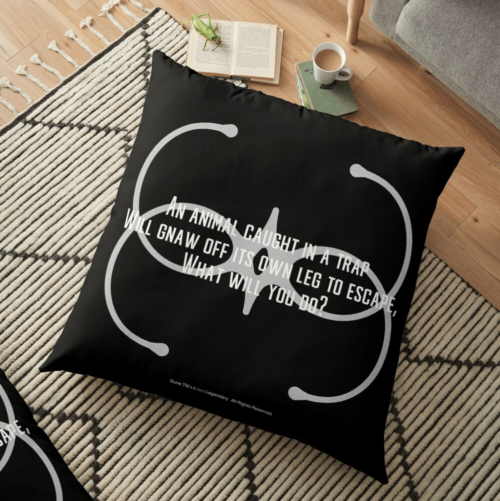 An animal caught in a trap-Dune Movie-Bene Gesserit Pain Box Floor Pillow
