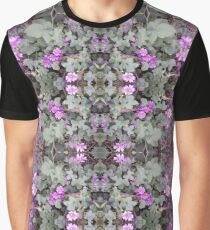 Mauve Ground Flower Fractal 2 Graphic T-Shirt